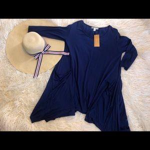 Francesca's- Navy tunic top